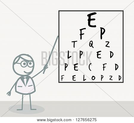 Eye doctor .eps10 editable vector illustration design
