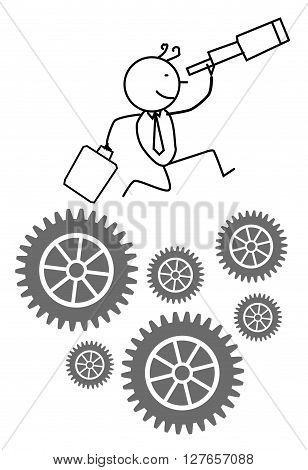 Businessman Find Opportunity .eps10 editable vector illustration design