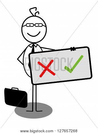Businessman X V Banner .eps10 editable vector illustration design