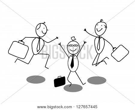 Happy Businessman .eps10 editable vector illustration design