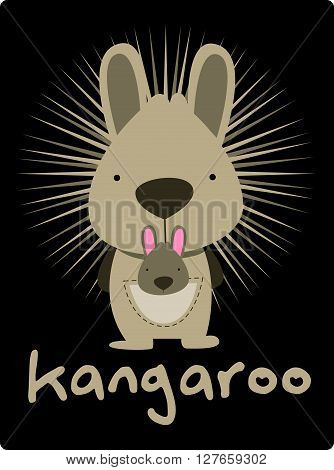 Kangaroo illustration .eps10 editable vector illustration design