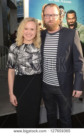 LOS ANGELES - APR 21:  Alison Pill, Joshua Leonard at the Keanu Los Angeles Premiere at the ArcLight Hollywood Theaters on April 21, 2016 in Los Angeles, CA