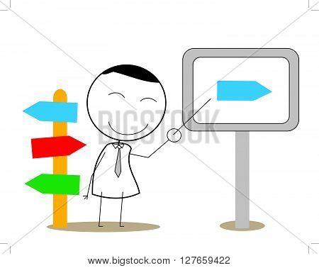 Presentation Man .eps10 editable vector illustration design