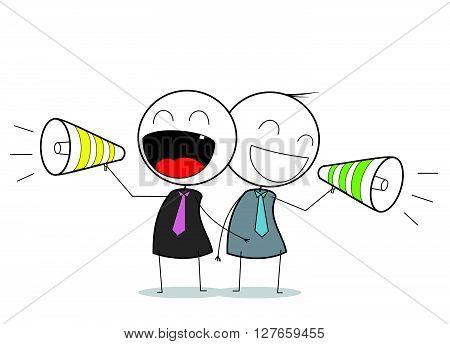 Businessman promotion .eps10 editable vector illustration design