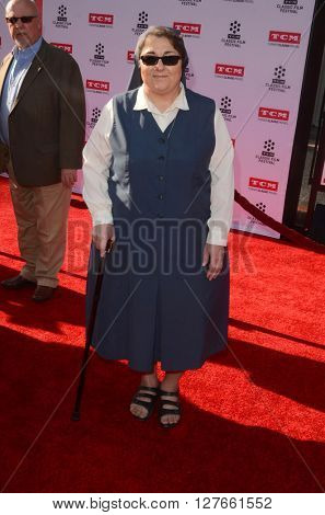 LOS ANGELES - APR 28:  Sister Rose Pacatte at the TCM Classic Film Festival Opening Night Red Carpet at the TCL Chinese Theater IMAX on April 28, 2016 in Los Angeles, CA