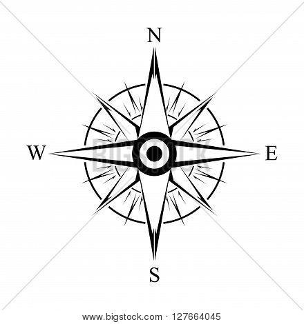 Compas Simple Symbol .eps10 editable vector illustration design