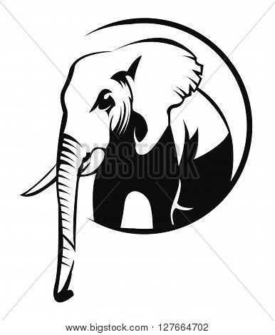 Elephant symbol .eps10 editable vector illustration design
