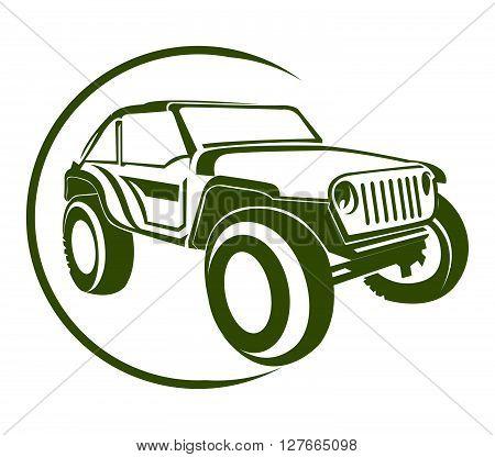 Truck Symbol .eps10 editable vector illustration design
