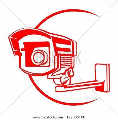 Security Camera .eps10 editable vector illustration design
