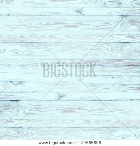 Shabby Chic square background with old planks in blue and brown colors textured scratches and antique cracked paint for scrapbooking and country design