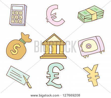 Funny Finance Design Object.eps10 editable vector illustration design
