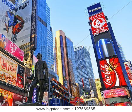 Statue Of George Cohan On Times Square