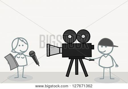 News Reporte r.eps10 editable vector illustration design
