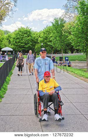 War Veteran In National Mall In Washington Dc