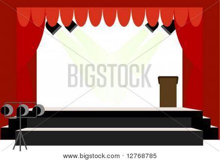 School Center Stage - Vector (no transparencies)