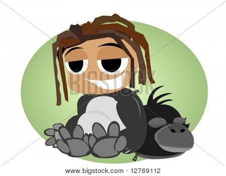 Gorilla Kid Costume - Vector