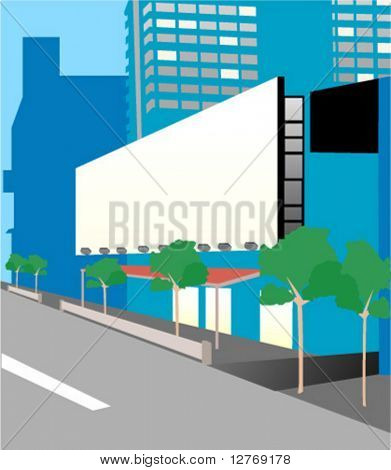 Urban Scene: Billboard - Vector