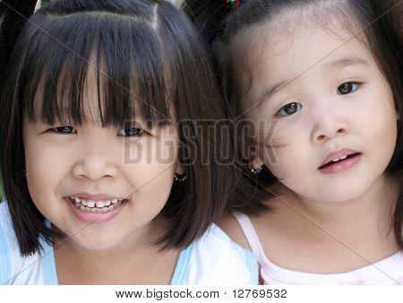 Sisters - Asian Children