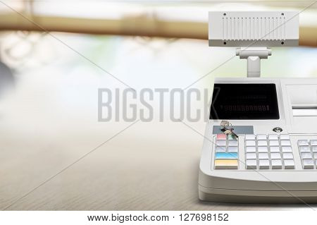 Cash Register Cashier Checkout Counter Supermarket Retail Store Pharmacy poster