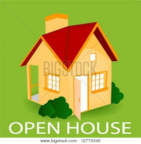 Open House Icon - Vector