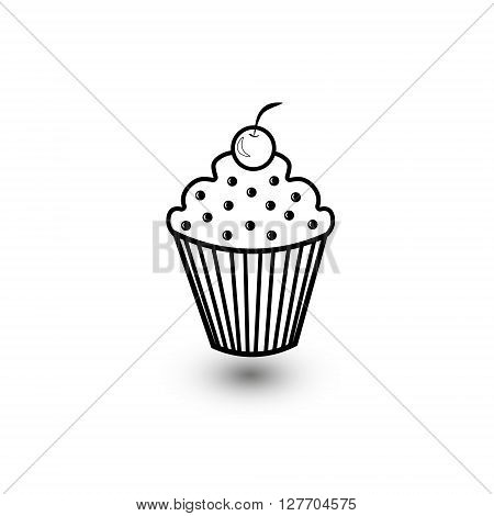 Seper delicious muffin Calorie delicious muffins with cream and raisins and cherry on top