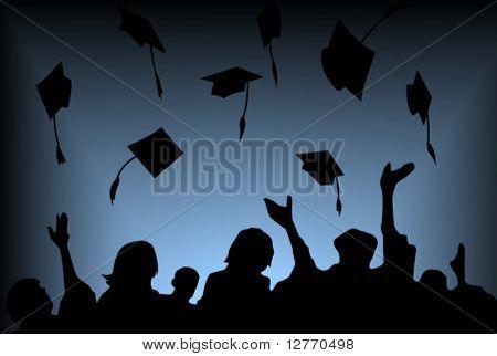 Graduation Background - Vector