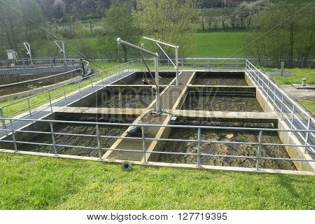 emscher fountain in a wastewater treatment plant