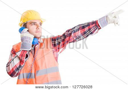 Visionary Builder Talking On The Phone