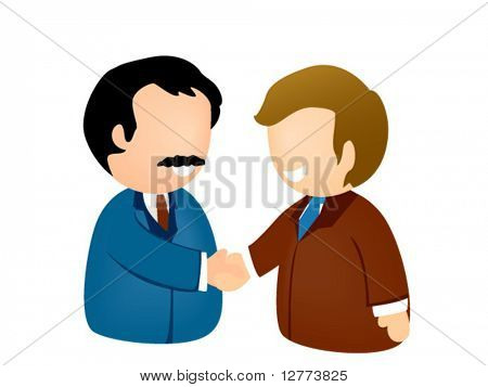 Business Handshake Icon - Vector