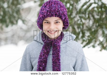 Purple Hat And Scarf