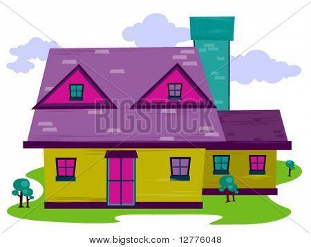 Cartoon House - Vector