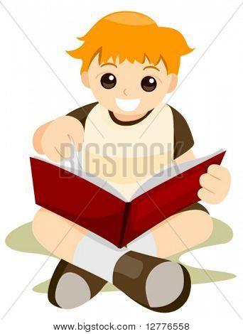 Reading Book - Vector