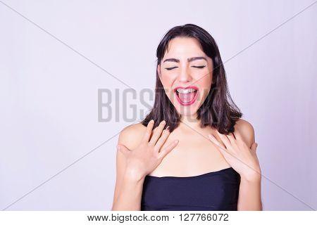 Portrait Of Beautiful Hispanic / Caucasian Young Woman