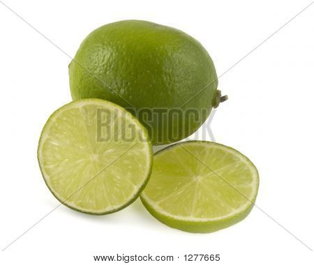 Lime with slices