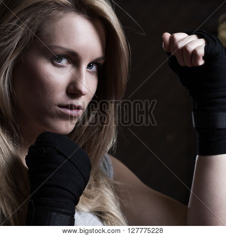 Fighting Girl Training Pugilism