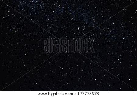 lot of stars against the black dark of the night sky