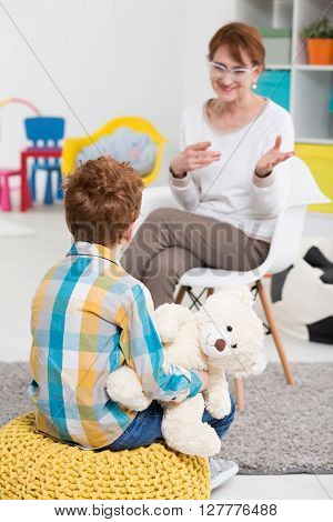 School Pedagogue Talking With Pupil