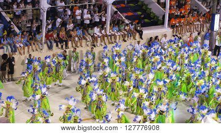 Rio de Janeiro Brazil - February 23: amazing extravaganza during the annual Carnival in Rio de Janeiro on February 23 2009