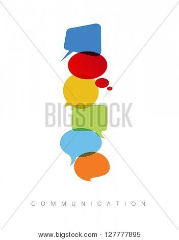 Vector abstract Communication concept illustration - vertical communication version