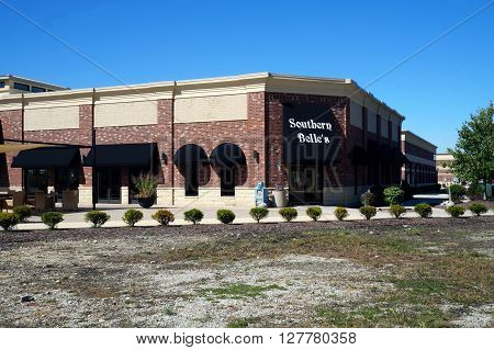 PLAINFIELD, ILLINOIS / UNITED STATES - SEPTEMBER 20, 2015: One enjoy of wholesome breakfast or lunch at Southern Belle's Pancake House, in the new Van Dyke Place in downtown Plainfield.