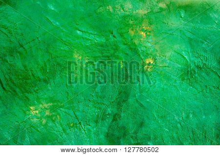 Green shinny cement texture with very rough surface