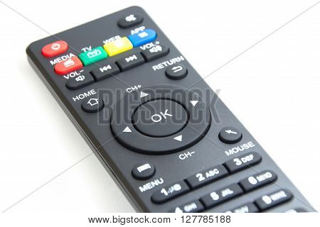 Closed up OK button on the smart plyer remote control