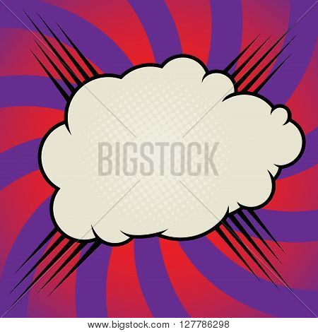 Comic book explosion color abstract, vector illustration