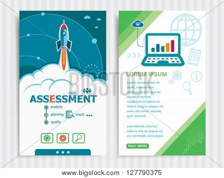 Project Assessment Concepts And Set Of Banners.