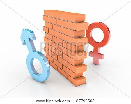 Wall And Two Persons