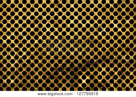 Texture Of Gold Marble Slab Macro Black Rounds Styled