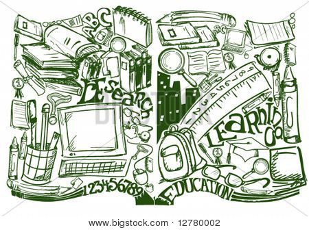 Education / Book / Knowledge - Vector