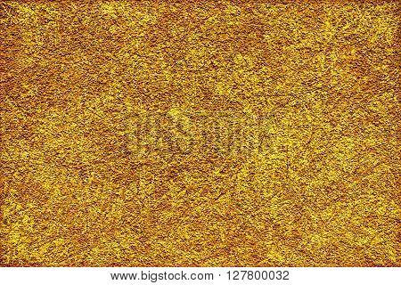Golden Revetment Wall Putty Macro Texture Background Scratched Styled
