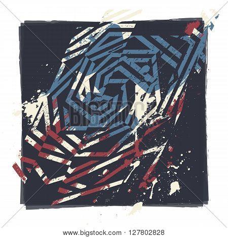 Vector Abstract Grunge Print Design