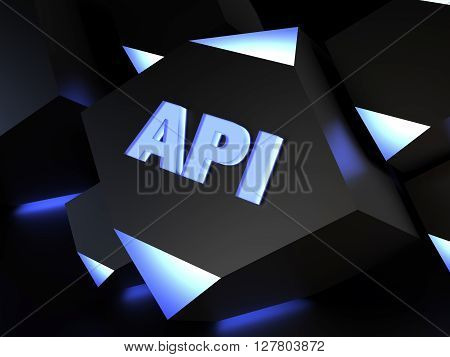API (Application programming interface) - computer generated image (3D render)